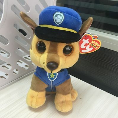 TY BEANIES BOOS PAW PATROL plush ~Chase~6 inch lovely gift