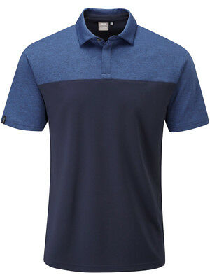 Ping Newman Tailored Fit Polo - Navy/Midnight Marl
