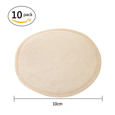 10pcs Reusable Breast Pads Nursing Soft Organic Plain Washable Feeding Pad