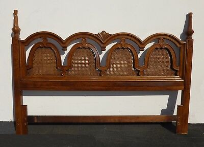 Mid Century Modern Cane King Headboard by Thomasville ~ French Country