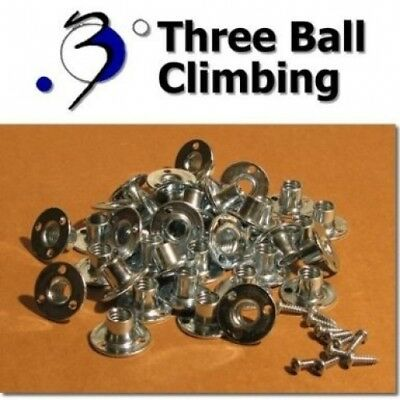 300 Round Base T-nuts for Climbing Holds. Three Ball Climbing. Brand New