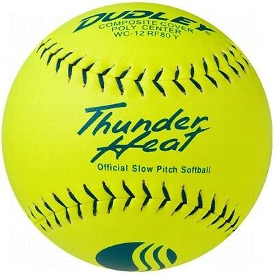 Dudley USSSA Thunder Heat Slow Pitch Classic M Stamp Softball - Composite
