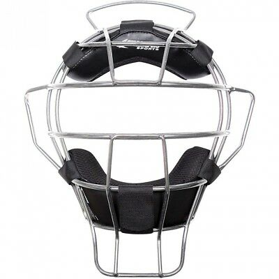 (Silver) - Champro Lightweight Dri-Gear Adult Baseball/Softball Umpire Mask