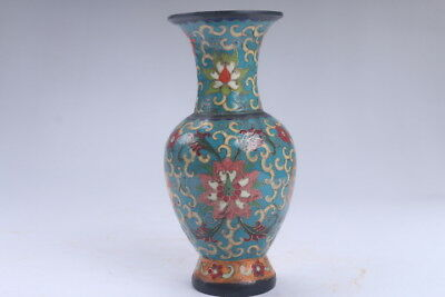 Collection Chinese Hand-carved Cloisonne Lotus vase ac200