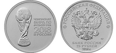 25 Rubles 2018 FIFA World Cup Football