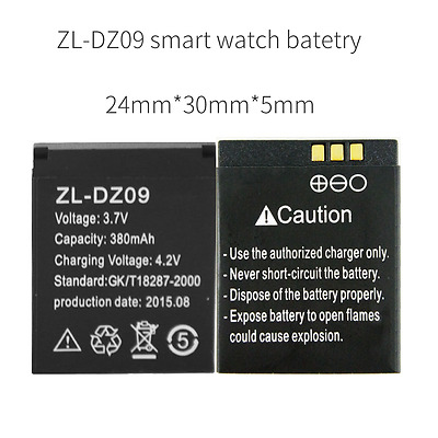 ZL-DZ09 battery watch bluetooth watch phone battery 380 mAh for dz09 smart watch