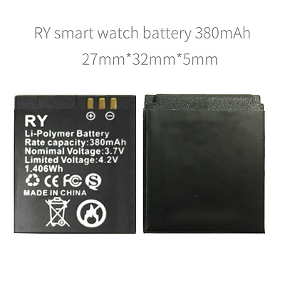 RY battery watch watch phone battery 380 mAh for smart watch and Z60 or GT08