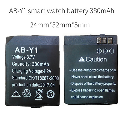 AB-Y1 battery watch bluetooth watch phone battery 380 mAh for Y1 smart watch