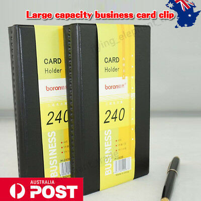 240 Business Name ID Credit Card Holder Booklet Folder Wallet Organizer AU