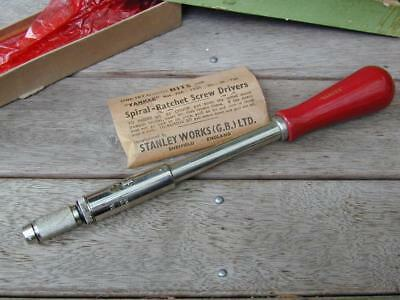 Vintage NOS Stanley Works GB YANKEE No 130A Spiral Screwdriver in Fab condition