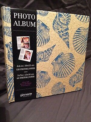 "PHOTO ALBUM Sea Shells, Holds 120 4""x6"" Photos, 30 pages New"