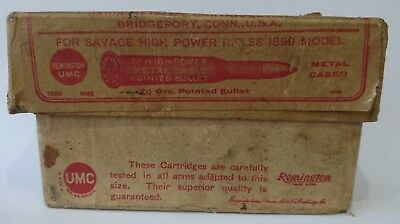 EMPTY BOX Vintage Original Remington .22 Central Fire Cartridge Box