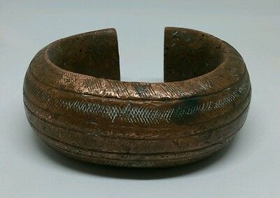 Antique West African Copper Manilla Currency/ Slave Bangle