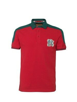 (X-Large, Z76 Red) - Front Up Rugby Men's World Tour Short Sleeve Polo T-Shirt