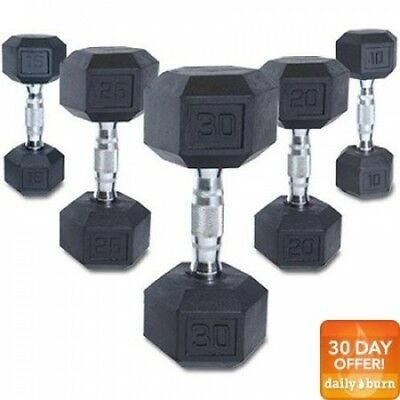 (10 lbs) - CAP Barbell Rubber Coated Hex Dumbbell, Single. Free Shipping