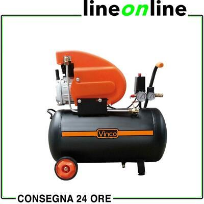 Compressore aria 24 lt Vinco 60600 coassiale 8 bar