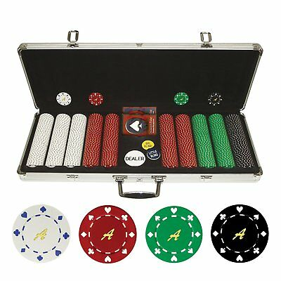 Trademark Poker Personalized Monogrammed 500 11.5 Gram Suited Chips in Case - Sc