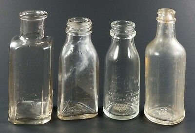 Group of Four Old Bottles - Cuffroy's, Norwich, Edison, Fitch's
