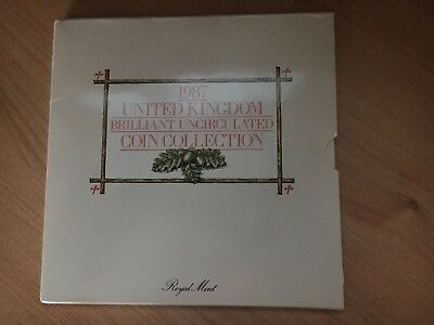 1987 Royal Mint United Kingdom Brilliant Uncirculated Coin Collection Set