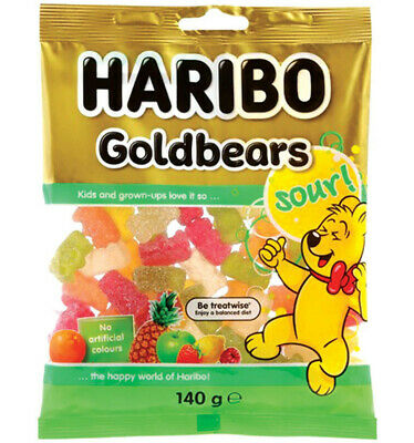 Haribo Sour Goldbears 140g x 14