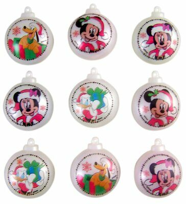 Christmas Disney Mickey Mouse and Friends Candy Filled Ornament Containers NEW