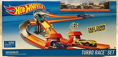 Hot Wheels Rennbahn Strecke Turbo Race Set DNN83