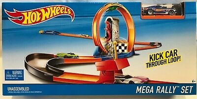 Hot Wheels Bahn Strecke Mega Rally Set mit Looping DNN82