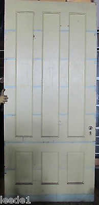 """Late 1800's Yellow Pine Door 6 Panel 8' x 44"""" x 1-7/8 Architectural Salvage"""