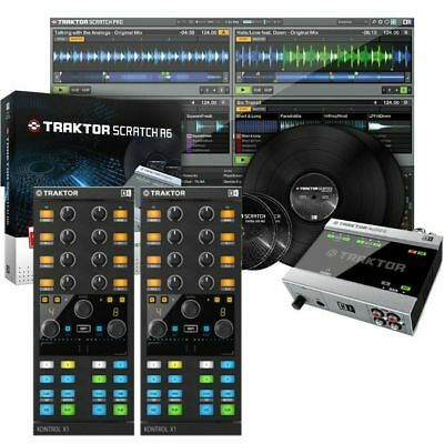 Native Instruments Traktor Scratch A6 Digital Vinyl System + Pair Of Traktor ...