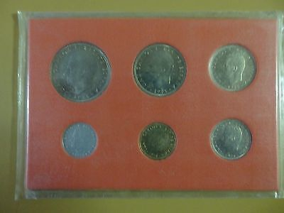 Spain 1975 Carlos Set Of 6 Coins