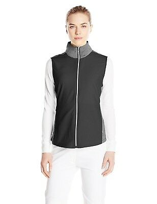 (Small, Black) - Cutter & Buck Women's CB Weathertec Laura Hybrid Vest