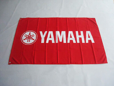 car racing banner for YAMAHA Flag 3x5ft 90x150cm free shipping Advertising red