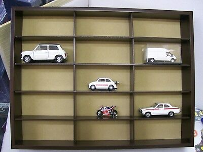 Atlas Wooden Wall mounted Display Cabinet for 15 1/36 1/43 1/76 models