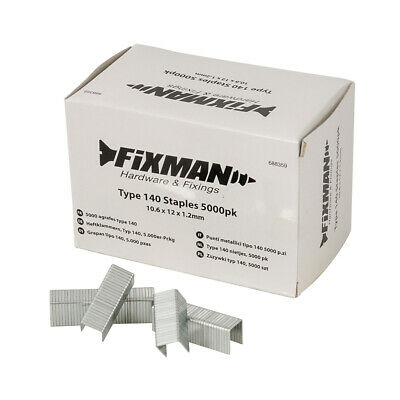 Fixman 688359 Type 140 Staples 5000pk 10.6 x 12 x 1.2mm