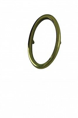 """Bright Solid Brass 3"""" Address House Number '0' Pin Mount 