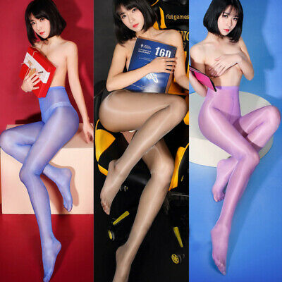 Fashion Womens Sexy Sheer Oil Shiny Glossy Classic Pantyhose Tights Stocking