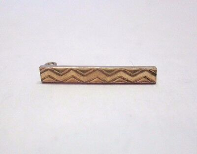 Tiny Small Antique Victorian Zig Zag Yellow 12k 1/20 Gold Filled Tie Bar Pin