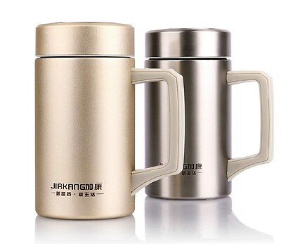 500ml Office Stainless Steel Tea Water Coffee Thermos Cup Travel Mug Bottle