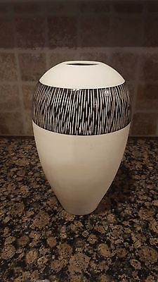 "Black Modern Art Deco with African style design Ceramic vase 15"" x 8"" -"