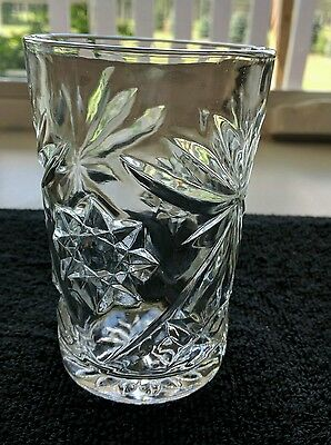 "3 Anchor Hocking EAPC Tumblers 4-1/2"" Set Of Three 1960's Art Deco"