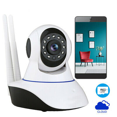 Wireless IP Camera Security 1080P HD WIFI Pan Tilt Two Way Audio Work with Alexa