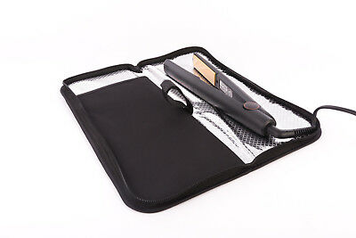 Mateque Travel Heat Proof Mat & Travel Pouch with Zip for GHD Hair Straighteners