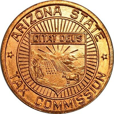 1 Mil Arizona Tax Token from the 1930's Uncirculated (inv# 12310) Free Shipping