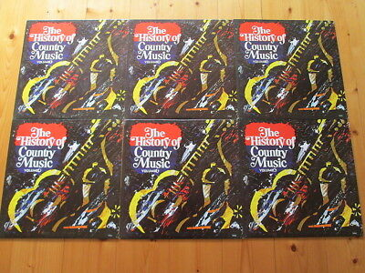 6 LPs Serie - The History of Country Music Vol.1-6 - Sammlung  - Sampler