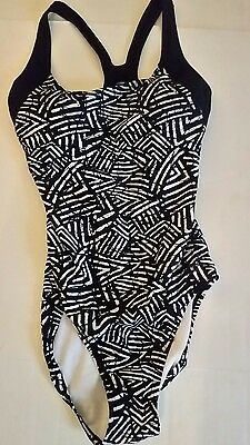 Speedo Black Bathing Suit One Piece 10