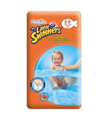Huggies Little Swimmers Size 5-6 Pants - 3 x Packs of 11 (33 Pants)