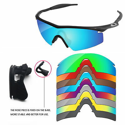 Nose Piece + Polarized Replacement Lenses For-Oakley M Frame Strike -Options