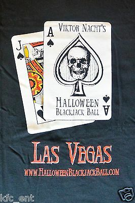 NEW Viktor Nacht's Halloween Blackjack Ball Las Vegas (2006) T-shirt size LARGE