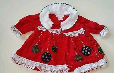 Baby girl Christmas dress size 3-6 months.