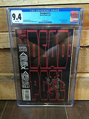 Deadpool (1993) #1 Cgc 9.4 Nm Wp 1St Solo Comic Book Embossed Cover (7076)